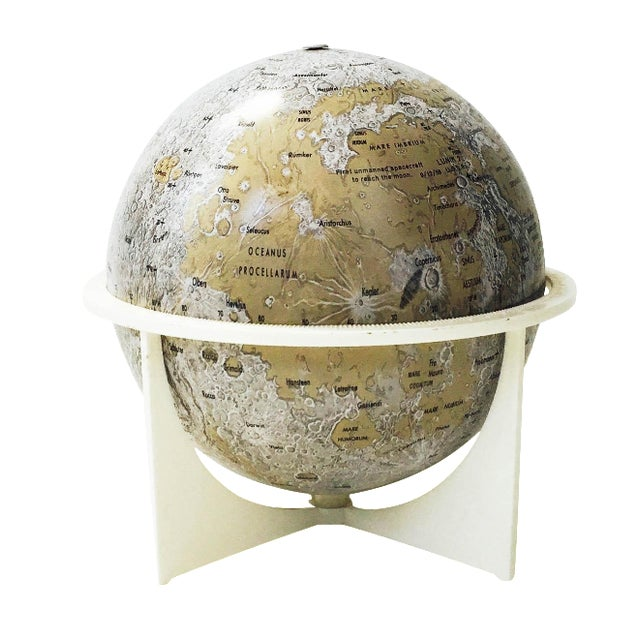 Mid-Century Tin Moon Globe - Image 1 of 5