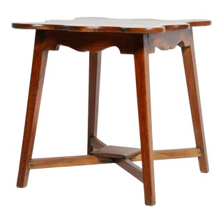British Colonial Side Table with Four Legs