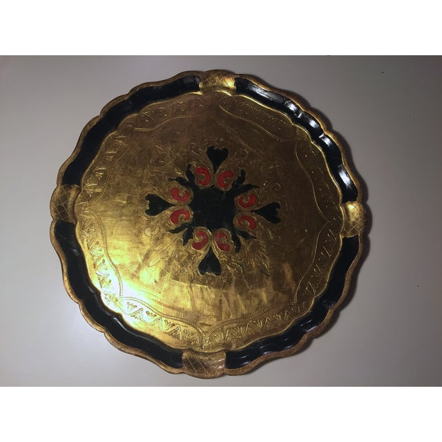 Florentine Round Gilt Tray - Image 6 of 6