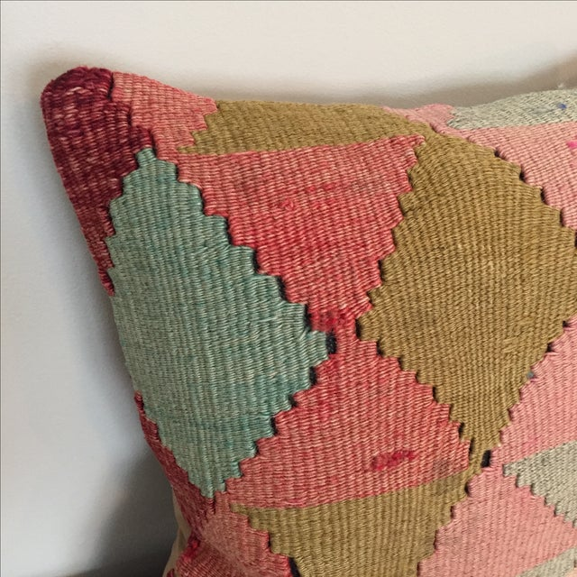 Vintage Kilim Throw Pillow - Image 3 of 5