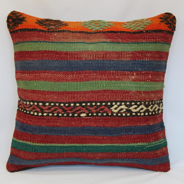 Turkish Handmade Kilim Pillow Cover - Image 2 of 7