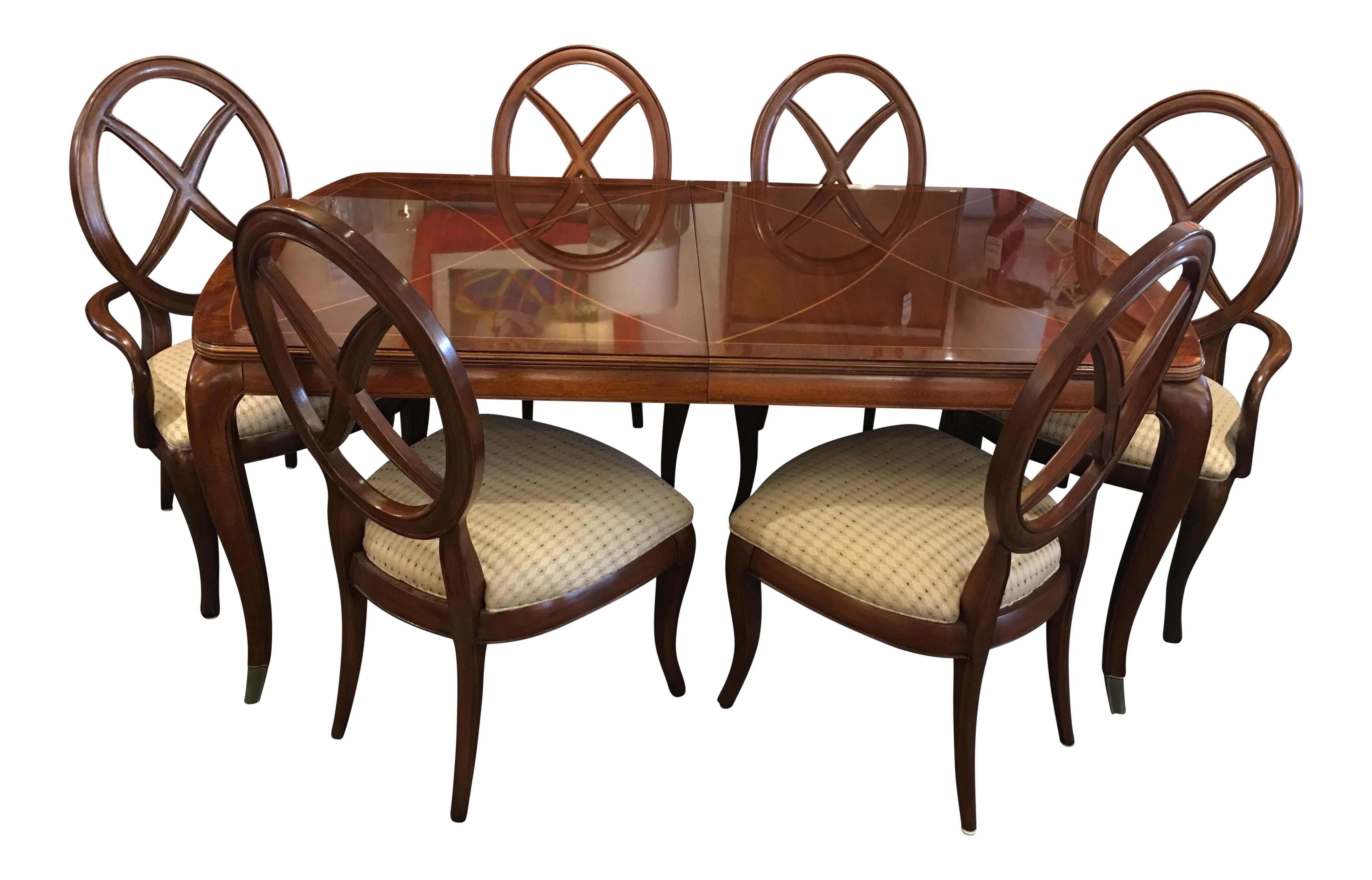High Quality Thomasville Bogart Collection Dining Set   Set Of 7