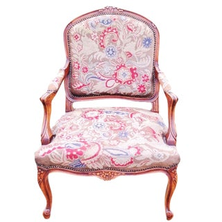 Petit Point Needlepoint Tapestry Chair