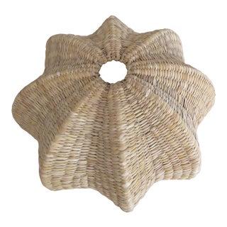 Mid Century Modern Woven Wicker Basket Ambiance Lamp