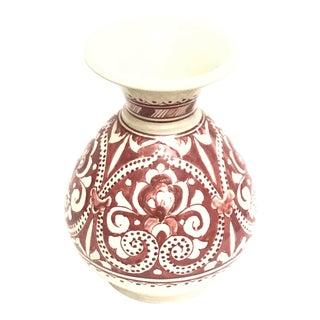 Moroccan Red Handmade Ceramic Vase