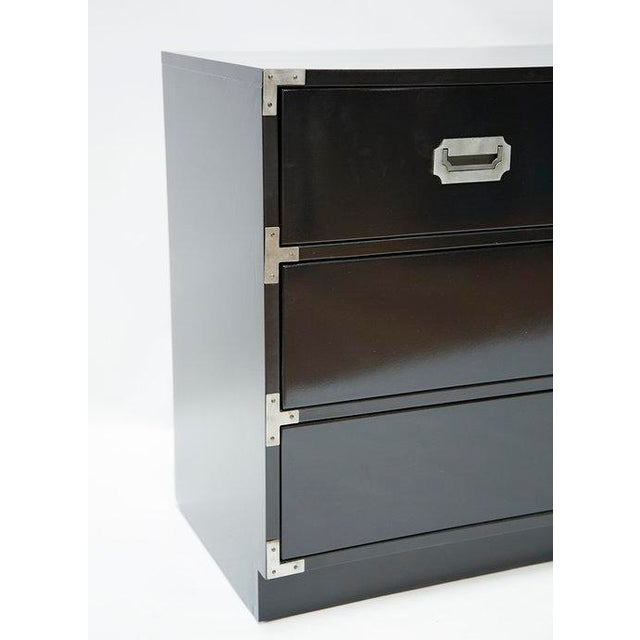 Black Lacquered Campaign Chest - Image 2 of 8
