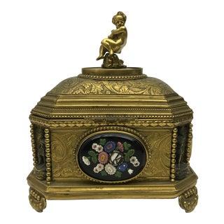 Antique Italian Gilt Jewelry Box