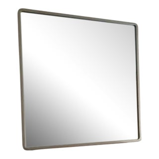 Brass Frame Square Mirror