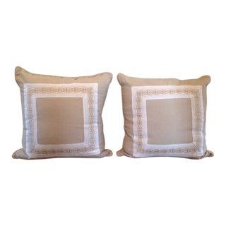 Beige Euro Pillows - Pair