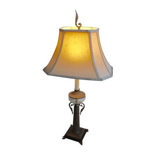 Hollywood Regency Brass & Cut Glass Lamp
