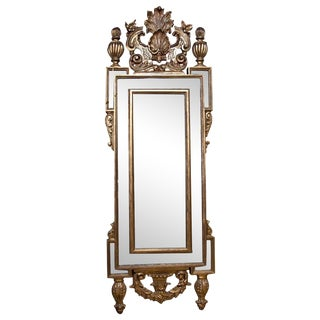 French Gold Carved Wood Mirror