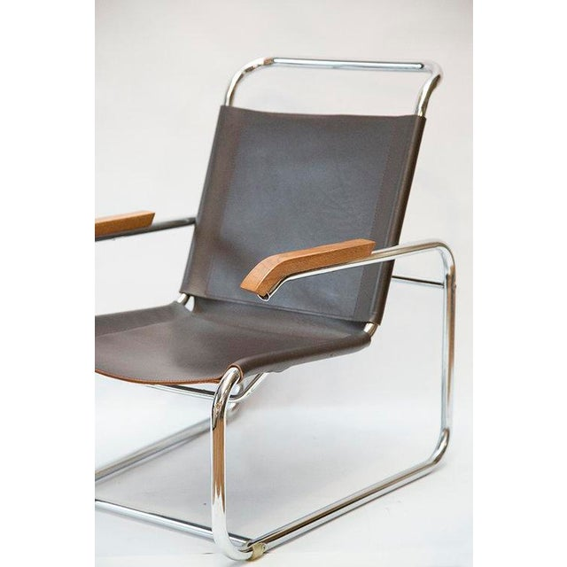 Leather Sling Arm Marcel Breuer Inspired Chair Chairish