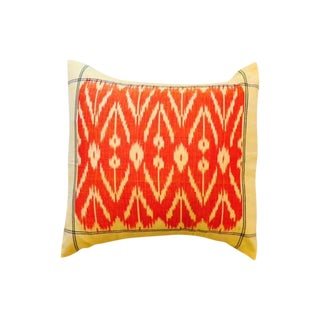 Orange & Yellow Ikat Pillow