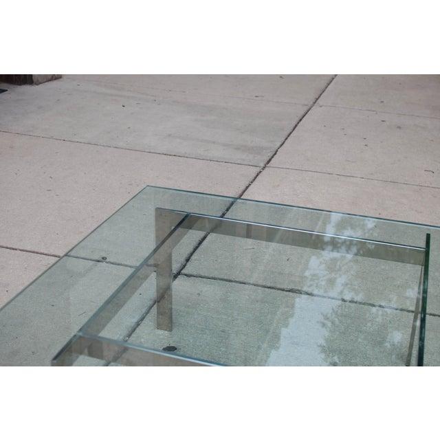 Milo Baughman Chrome & Glass Coffee Table - Image 5 of 6