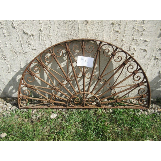 Antique Victorian Iron Gate Architectural Element - Image 4 of 7