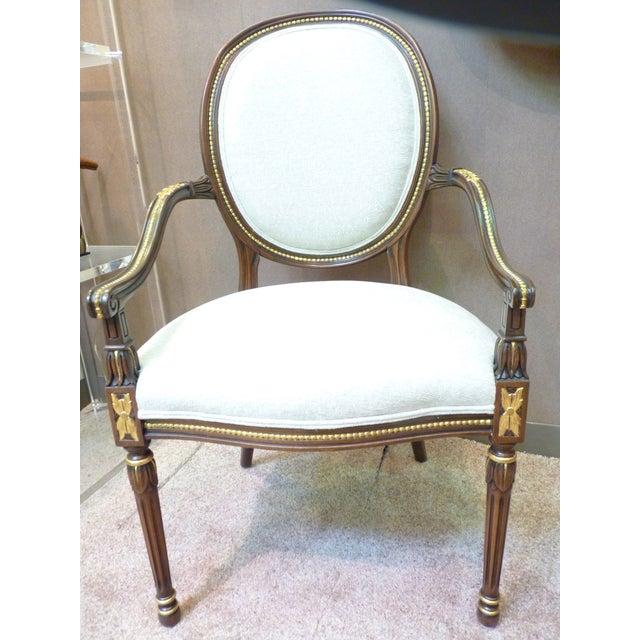 David Barrett Olga Arm Chairs - Set of 10 - Image 2 of 3