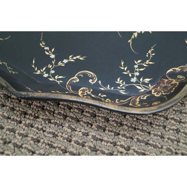 Jennens & Bettridge Hand Painted Tray Top Table - Image 9 of 10