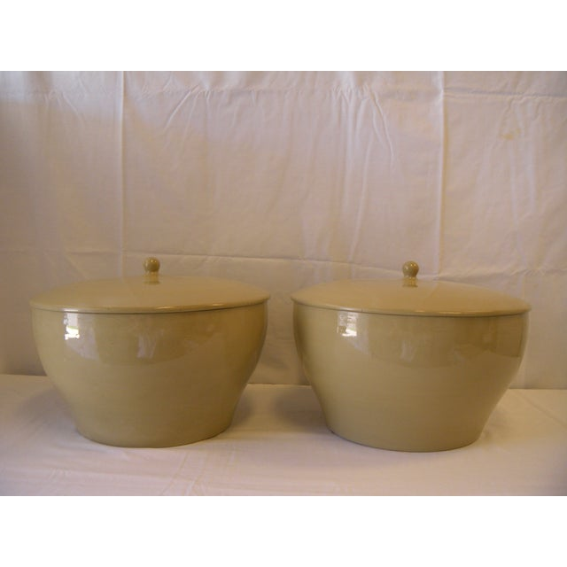 Large Lidded Urns - a Pair - Image 3 of 5
