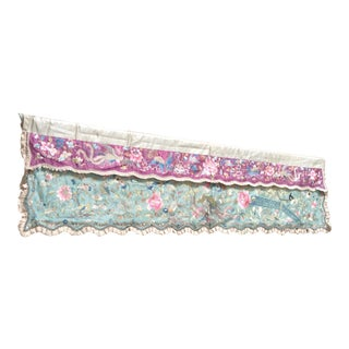 Antique Chinese Textile Needlework Panel