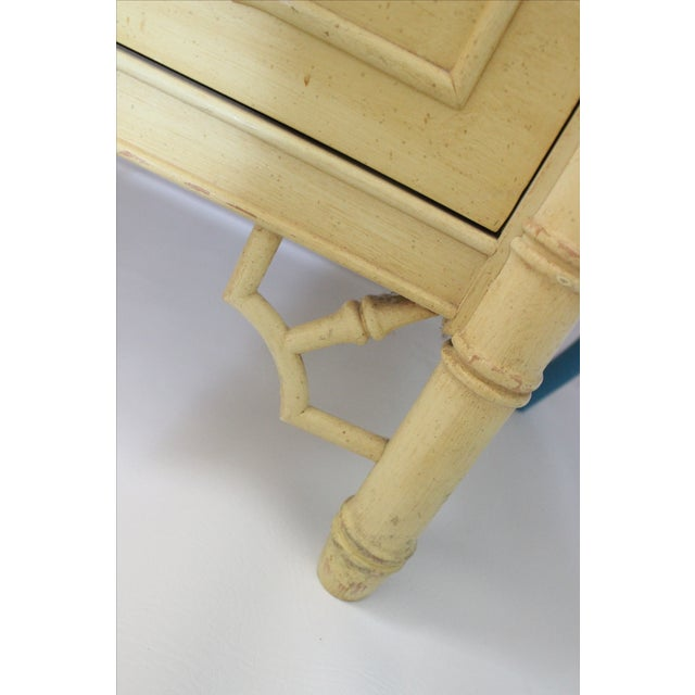 Thomasville Faux Bamboo Desk With Fretwork - Image 8 of 11