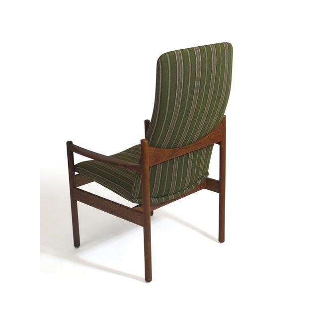 Mid-Century Danish Teak High-Back Lounge Chair - Image 7 of 9