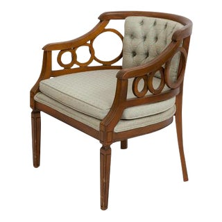 Hollywood Regency Barrel-Back Circle Chair