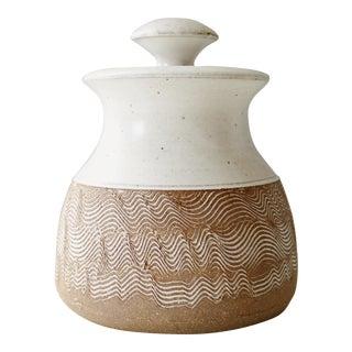 Vintage Mid Century Handmade Ceramic Lidded Studio Pottery Jar