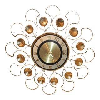 1960s Vintage Starbust Wall Clock