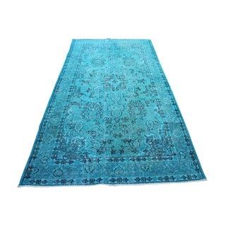 Turquoise Overdyed Oushak Rug - 4′2″ × 7′9″