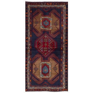 Vintage Persian Tribal Ardabil Rug - 3″ × 8″