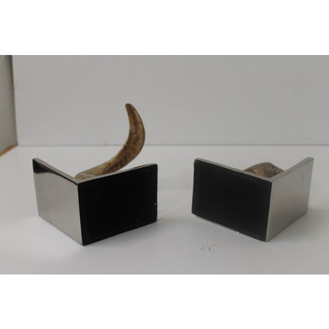 Image of Horn Bookends on Steel Bases