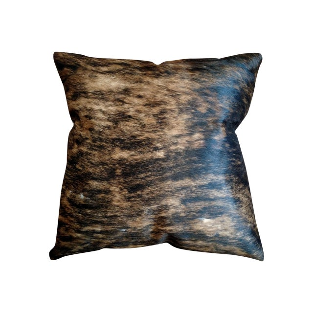 Gambrell Renard Classic Brindle Cowhide Pillow - Image 1 of 5