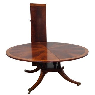Flame Mahogany Duncan Phyfe Extension Dining Table