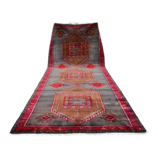 Turkish Hand Knotted Large Runner Rug - 6′3″ × 15′