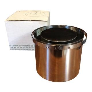 Arne Jacobsen for Stelton Danish Mid-Century Cylinda-Line Ice Bucket