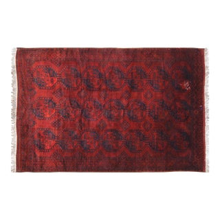 Vintage Turkoman Red Wool Rug - 7'7″x11'10""
