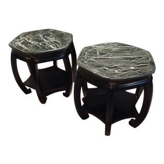East Asian Style Side Tables - A Pair