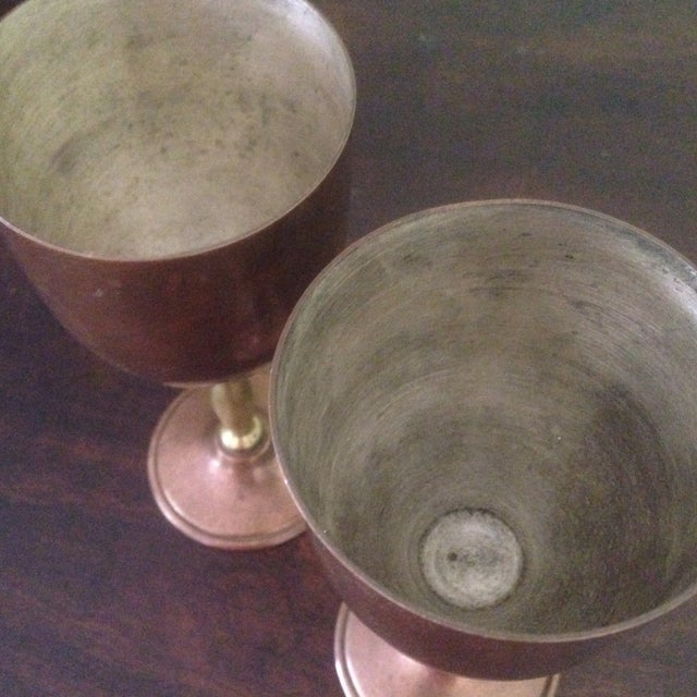 Copper & Brass Goblets - a Pair - Image 5 of 11