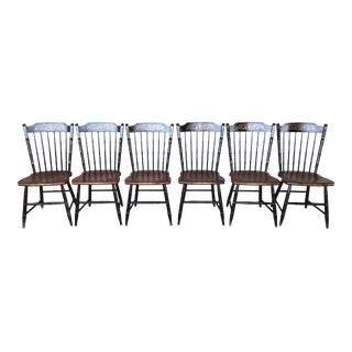 L. Hitchcock Windsor Farmhouse Style Side Chairs - Set of 6
