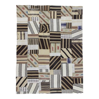 Decorative Turkish Kilim Patchwork Rug - 9′1″ × 12′2″
