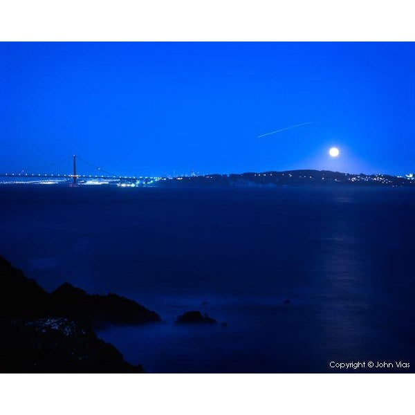 Image of Moonrise Over San Francisco - Photo by John Vias