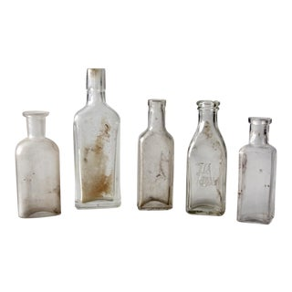 Antique Apothecary Bottles - Set of 5
