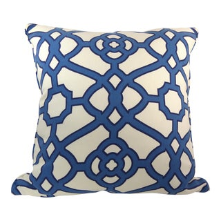 Blue & White Latice Style Pillow