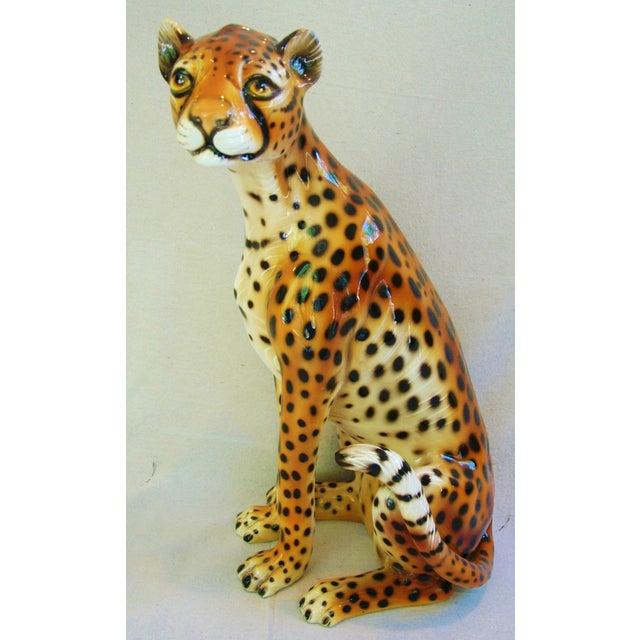 Large Hollywood Glam Mid-Century Italian Cheetah - Image 2 of 11