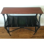 Image of Vintage Black & Brown Top Rack Console Table
