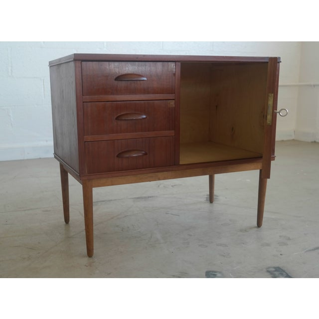 Danish Teak Cabinet with Drawers - Image 5 of 5
