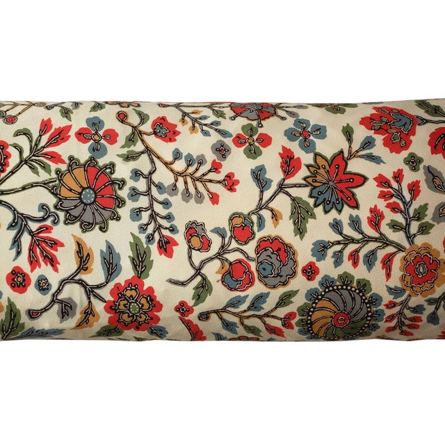 Japanese Vintage Silk Print Textile Pillow - Image 4 of 4
