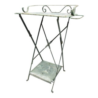 Metal Washstand Folding Side Table European Wash Stand Dry Sink Steampunk Decor