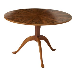 A Carl Malmsten Burlwood Console or Center Table