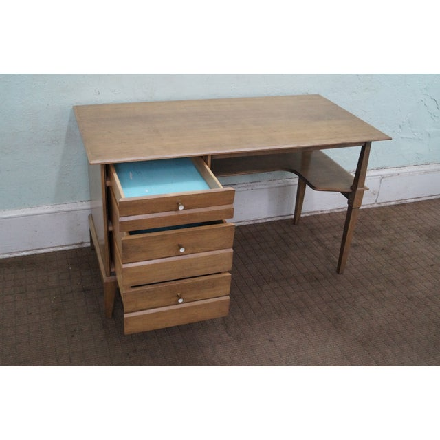 Image of Heywood Wakefield Mid-Century Sable Desk & Chair